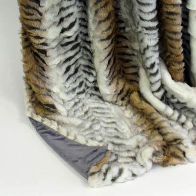 Wendedecke Tiger/grau, ca. 150 cm x 200 cm