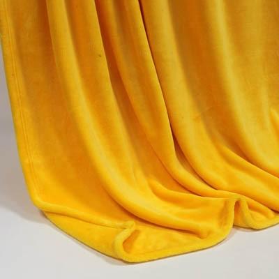Decke SilkTouchUni gelb, 150x 200cm