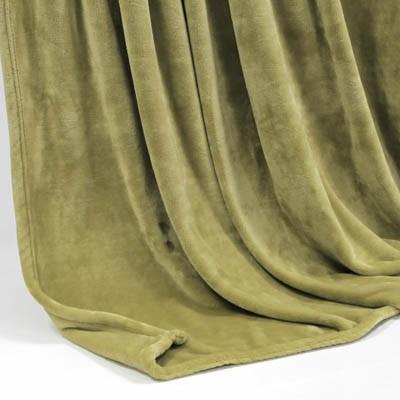 Decke SilkTouchUni khaki, 150x 200cm