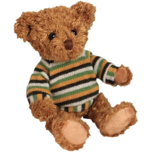 Classic Bär, sitzend mit Pulli, hellbraun, 12cm