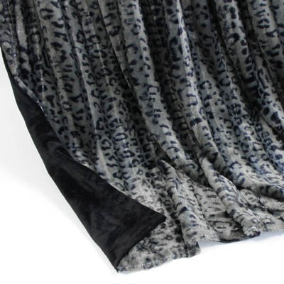 Wendedecke Leopard grau/schwarz, ca. 150 cm x 200cm