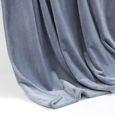 Decke SilkTouchUni grau-blau, 150x 200cm