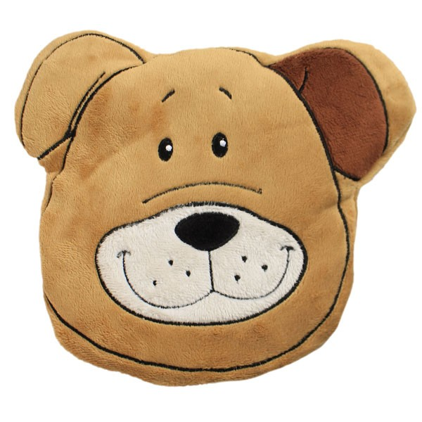 Wärmekissen Tierkopf Hund 20x19x3 cm