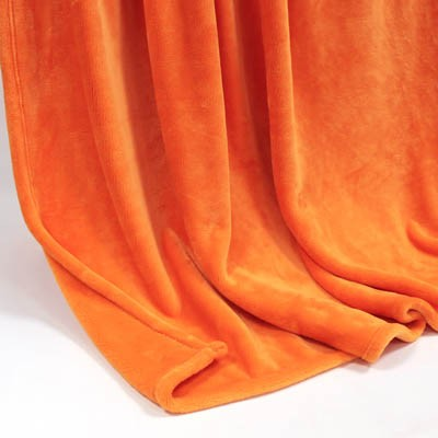 Decke SilkTouchUni orange, 150x 200cm