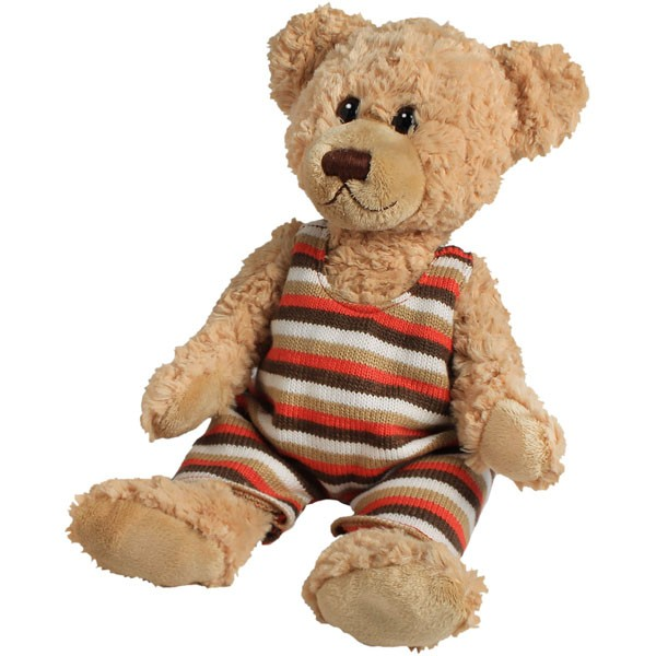 Classic Bär, sitzend mit Body, hellbraun, 22cm