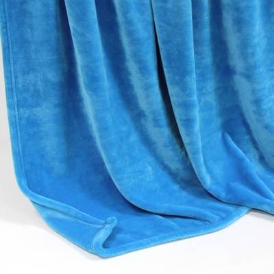 Decke SilkTouchUni blau, 150x 200cm