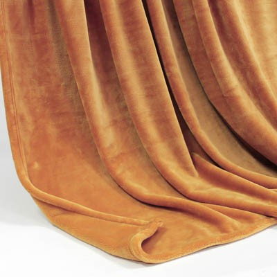 Decke SilkTouchUni ocker, 150x 200cm