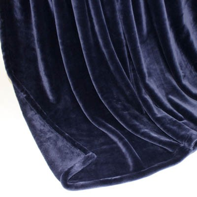 Decke SilkTouchUni dunkelblau, 150x 200cm