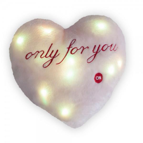 LED Herz-Kissen, ca. 36 x 30 cm, in verschiedenen Farben erhältlich