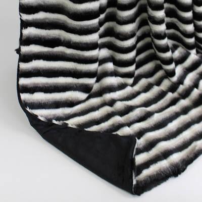 Wendedecke schwarz-weiss/schwarz, ca. 150 cm x 200 cm