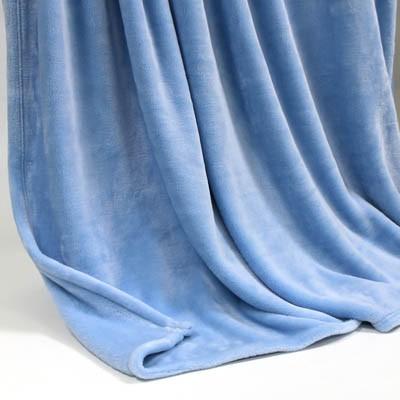 Decke SilkTouchUni himmelblau, 150x 200cm