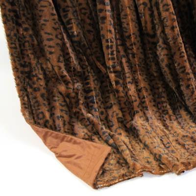 Wendedecke Leopard braun/rotbraun, ca. 150 cm x 200cm