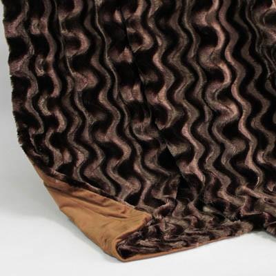 Wendedecke dunkelbraun wellig/braun, ca. 150 cm x 200cm