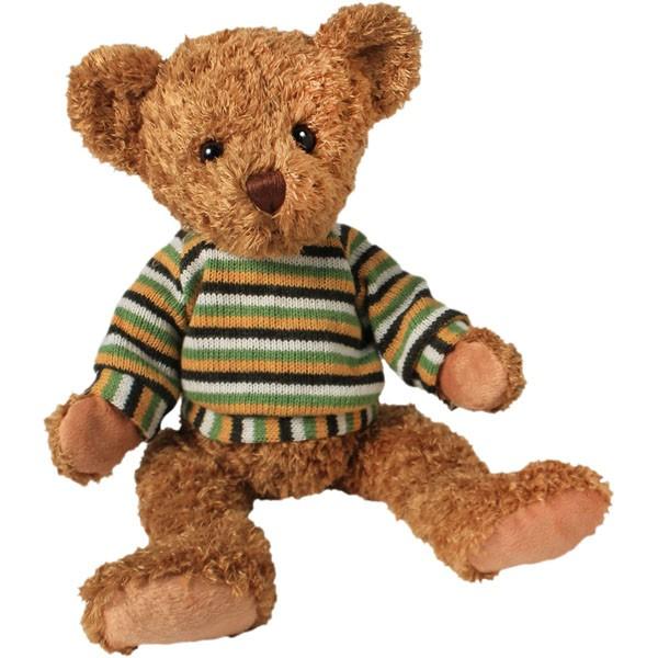 Classic Bär, sitzend mit Pulli, hellbraun, 22cm