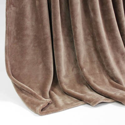 Decke SilkTouchUni hellbraun, 150x 200cm