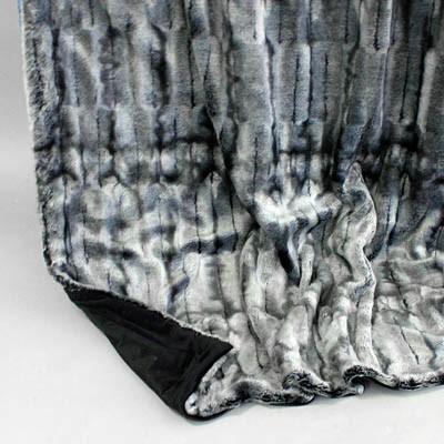 Wendedecke Nerz/silbergrau, ca. 150 cm x 200 cm