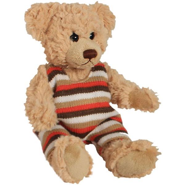 Classic Bär, sitzend mit Body, hellbraun, 12cm