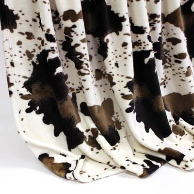 Decke SilkTouchPrint Kuh, ca. 150 cm x 200 cm
