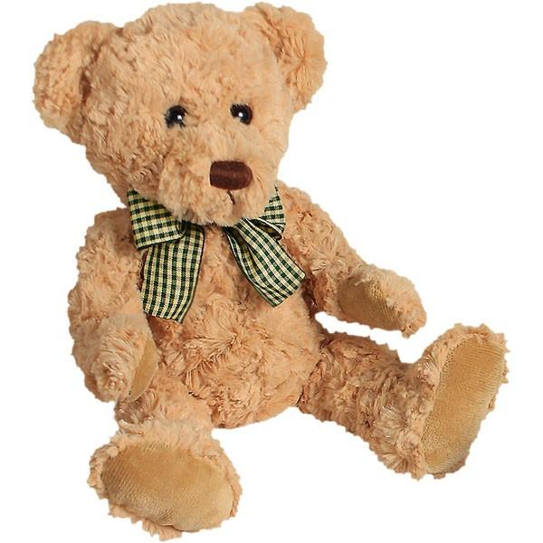 Classic Bär, mit gelb-schwarzer Schleife, hellbraun, 22cm