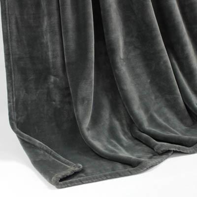 Decke SilkTouchUni dunkelgrau, 150x 200cm