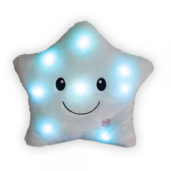 LED Stern-Kissen, ca. 40 x 35 cm, verschiedene Farben erhältlich