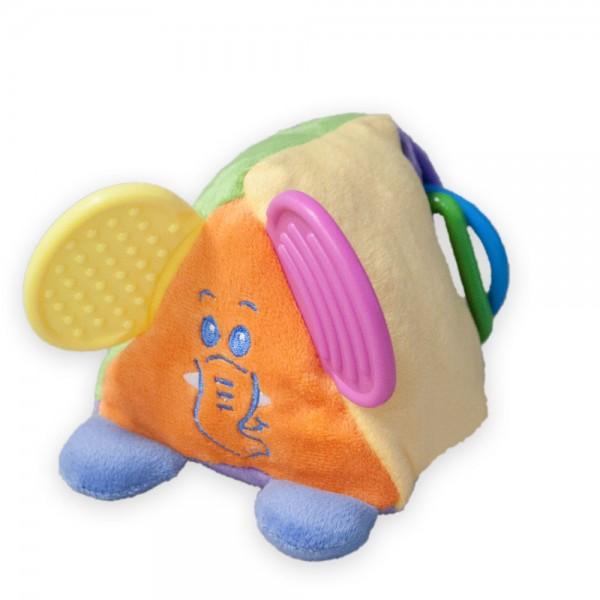 Baby Activity, kleine lustige Plüschfreunde: Dreieck, Würfel, Zylinder