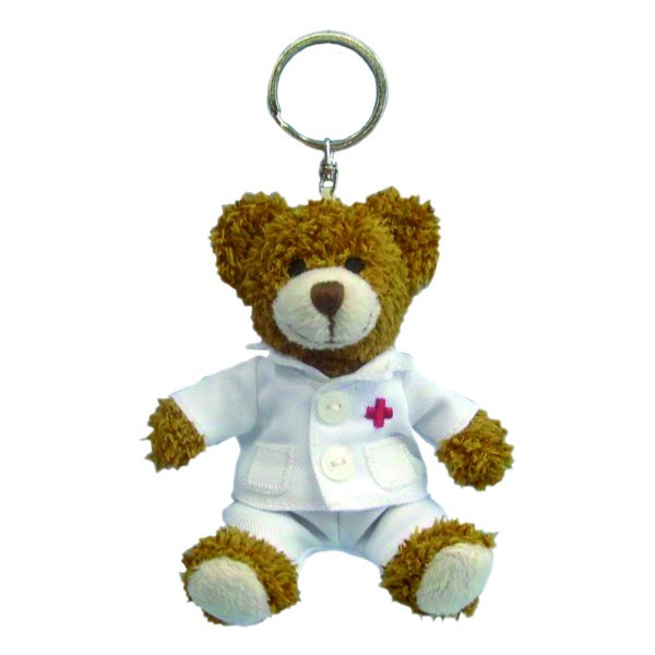 Doktor-Bär Schlüsselanhänger, 12cm