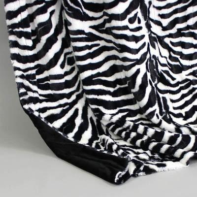 Wendedecke Zebra/schwarz, ca. 150 cm x 200cm