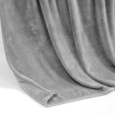 Decke SilkTouchUni hellgrau, 150x 200cm