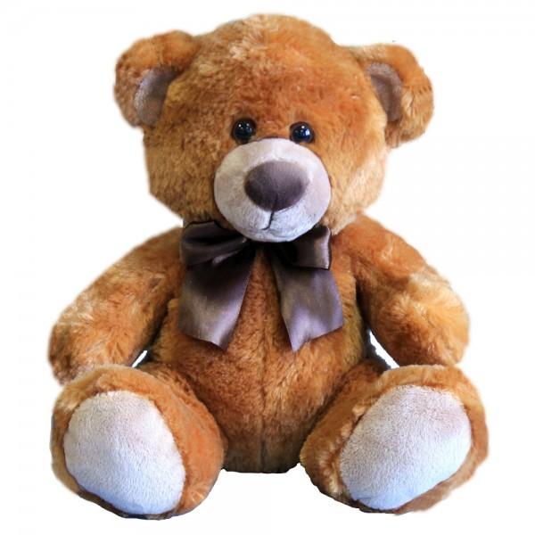 Teddy braun sitzend mit Schleife ca. 35 cm